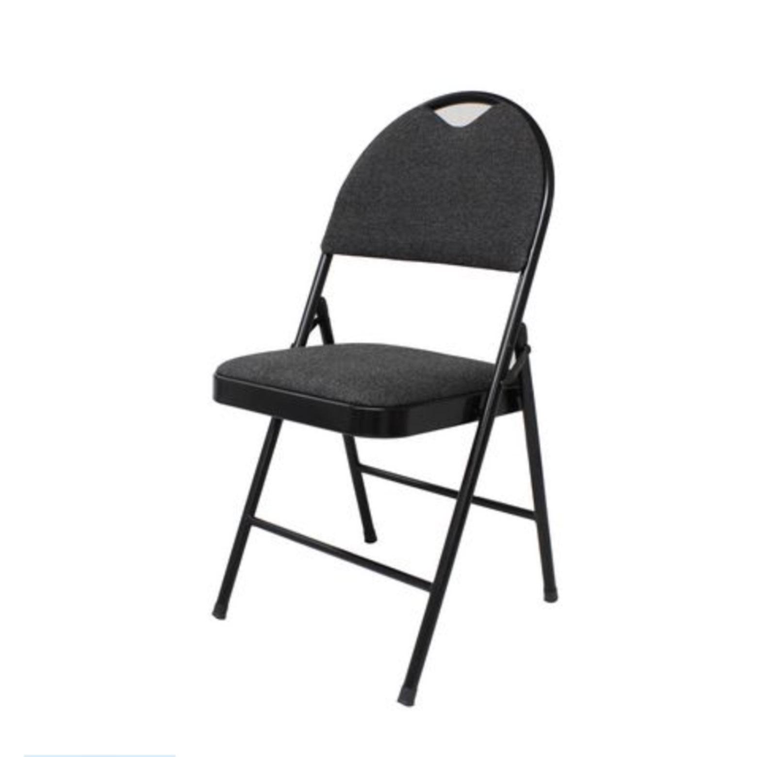 Folding Padded Chairs – Black