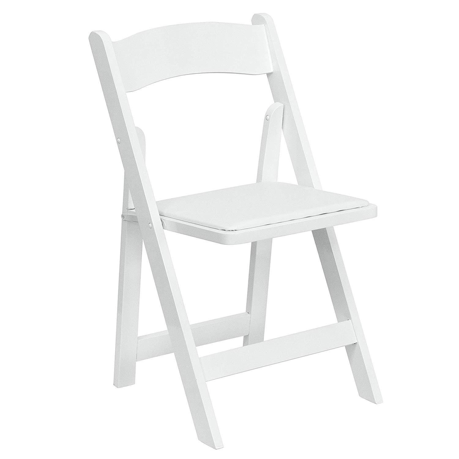 Folding Padded Chairs – White